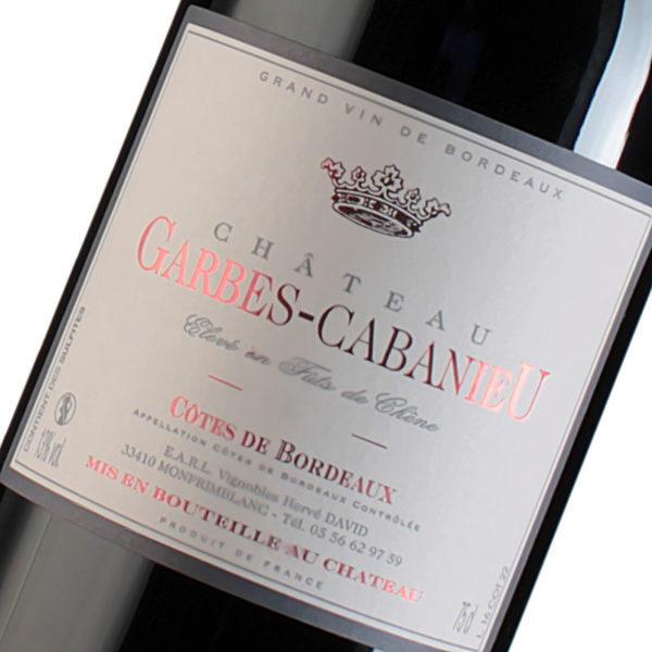 Etiquette Château Garbes Cabanieu - Fûts de Chêne